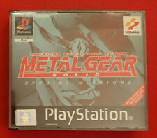 PS1 PSX PLAYSTATION METAL GEAR SOLID SPECIAL MISSION PAL ITALIANO COMPLETO HIDEO
