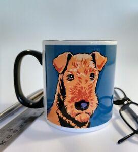 Airedale single black handle mug