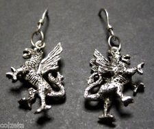 Exquisite DRAGON earrings  .925 STERING SILVER by Peter stone