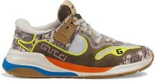 NEW GUCCI LADIES CURRENT ULTRAPACE MULTI COLOR LEATHER LOGO SNEAKERS SHOES 39/9