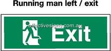 Running Man Left Exit Sign Safety Signs Australian Made Quality Printed Sign