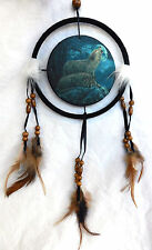 Pair of Wolves by Moonlight Design Dreamcatcher / Wolf Dream Catcher - BNIB