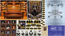 "DECALS/STICKERS FOR KENNER BATMAN & BATMAN ANIMATED SERIES FIGURES 3.75"" - 4"""