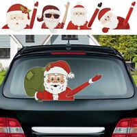 Père Noël Voiture Autocollant Arrière Sticker Amovible Essuie-Glace Vtire BM