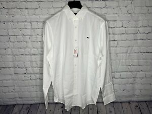 Vineyard Vines White Classic Fit Oxford L/S Button Shirt Mens Size Large NWT
