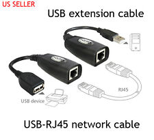 USB TO RJ45 NETWORK ETHERNET CABLE ADAPTOR EXTENDER OVER CAT5 5E 6E TO 100FT USB