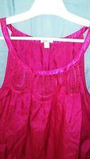 Womens Pink Old Navy Spring Summer Tank Top Blouse Shirt  1X