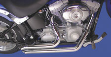 """SIDE SWEEPER EXHAUST PIPES 2"""" HARLEY SOFTAIL DEUCE FXSTD SPRINGER FXSTS 07-11"""