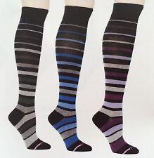Dr. Motion Graduated Compression 8-15mmHg Knee-Hi Women's Socks, 3 Pairs