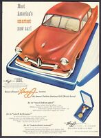 "1951 Kaiser-Frazer Henry J Sedan art ""Fashion Academy Winner"" vintage print ad"
