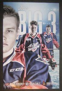 2016-17 Windsor Spitfires OHL Poster Schedule Mikhail Sergachev Logan Brown