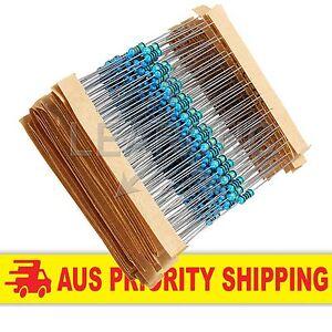 600 Pack 1% Resistors 1/4 Watt 30 values 20 pc each Arduino Raspberry Pi ESP8266
