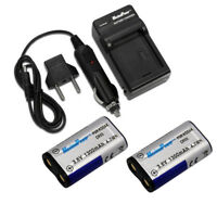 For Kodak Nikon Casio Olympus CR-V3 CRV3 LB01 LB-01 Camera BATTERY X 2 + CHARGER