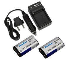 For Kodak Nikon Casio Olympus CR-V3 CRV3 LB01 LB-01 Camera BATTERY X 2 + CHARGER