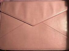 Slim Portable PU Leather Laptop Sleeve Envelope Case- Pink