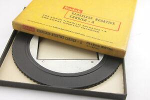 """Kodak Negative Carrier A Flurolite Hobbyist 2 1/4"""" 120 620 Roll Film USED N55"""