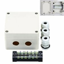 Waterproof Junction Box Distribution Box Electric Enclosure Case 6 Port+Terminal