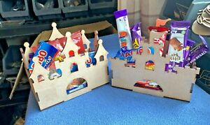 Wooden MDF Princess Palace and Castle Box Craft Blanks Christmas Chocolates