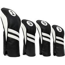 Vintage Golf Club Head Covers Driver, Fairway Woods, Hybrid 1,3,5,X Leather Look