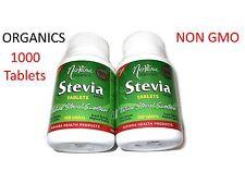 1000 Tablets NATURAL STEVIA SWEETENER Zero Calories Zero Carbs NIRVANA ORGANICS