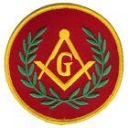 Masonic Gold & Red patch, Masonic Riders, Mason Patch, Masonic Bikers for sale