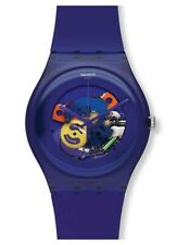 Swatch Purple Lacquered Silicone Watch SUOV100