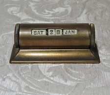 Vintage Nichols USA  pat.1946 Datario da scrivania Brass Drum Perpetual Calendar