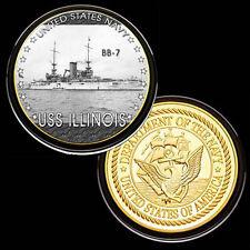 USS Illinois (BB-7) GP Challenge pinted Coin