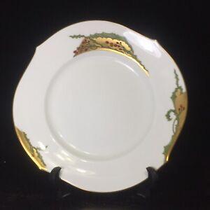 "New Meissen Waves Pure Holly Dessert Plate 8.7"" Diameter 700291 / 2204, No Box"