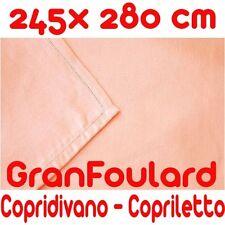 Telo Arredo Copridivano Copriletto GranFoulard copritutto Cotone Rosa 245x280 cm
