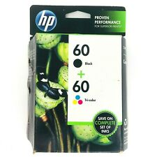 Sealed Genuine HP  60 Tri-Color Ink Cartridge exp 2013 2 Colored