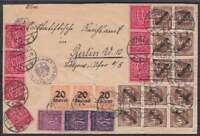 DR Dienst Mi Nr. 80, 90, 72, 73, 74 101x ! MiF toller Brief Oppeln - Berlin 1923