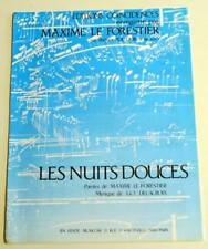 Partition vintage sheet music MAXIME LE FORESTIER : Les Nuits Douces * 80's
