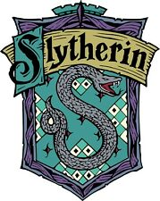Slytherin Iron on Screen Print for fabric Machine Washable patch Hogwarts Wizard