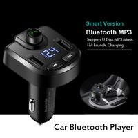MP3 Player FM Transmitter Car Bluetooth Player Cigarette Lighter USB Charger
