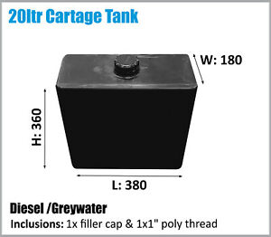 DIESEL TANK. 20LTR. POLYMATE. ASK FOR FREIGHT PRICES