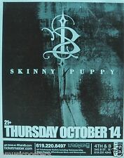 SKINNY PUPPY 2004 SAN DIEGO CONCERT TOUR POSTER - Industrial Rock Music