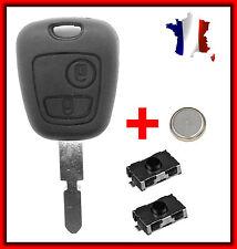 Coque Clé Pour Peugeot 406/406 BREAK/406 COUPE/607/806 +Lame + 2 Switch Bouton
