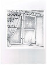 MANUELA   Friede auf Erden / It's Hard To Explain  NEU von 1991
