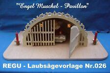 REGU - LAUBSÄGEVORLAGE Nr.026 - Engel Muschel / Pavillon - interessante Vorlage