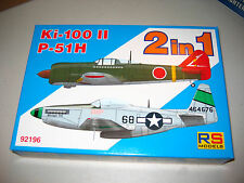 1/72 Scale RS Models Ki-100 II & P-51H  2 in 1 Kits