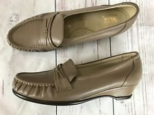 SAS Womens Size 9S Easier Mocha Tan Leather Tripad Comfort Loafer Shoes Mint