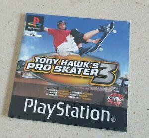 Tony Hawk's Pro Skater 3 PS1 Playstation Game Manual