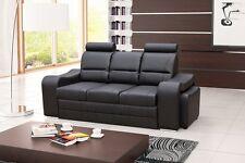 SOFA + 2 HOCKER Couch mit Schlaffunktion Polstergarnitur TOP MODERN - WENUS