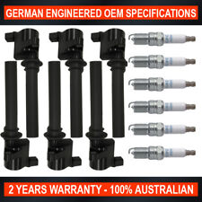 6x Genuine NGK Spark Plugs & Ignition Coils for Ford Escape Mazda Tribute 3.0 V6