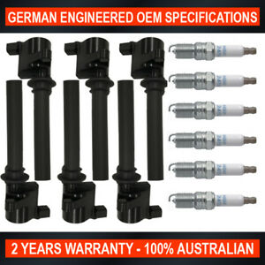 6x Swan Ignition Coils & NGK Spark Plugs for Ford Escape Mazda Tribute 3.0 V6