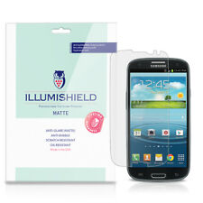 iLLumiShield Matte Screen Protector w Anti-Glare/Print 3x for Samsung Galaxy S3