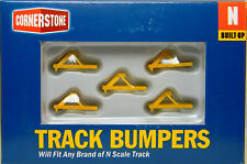 NEW N Walthers Cornerstone 933-2602 Yellow Track Bumpers 5 Pack