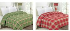 NEW PLAID CHRISTMAS GIFT HOLIDAY COMFORTER BEDROOM BEDDING TWIN FULL QUEEN KING