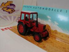 Busch 51304 # Belarus MTS 80 Traktor in rot-weiß 1:87 NEU